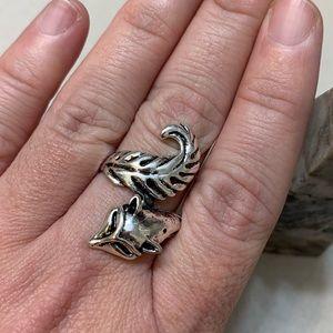 Super Cute Fox Wrap Ring Size 10